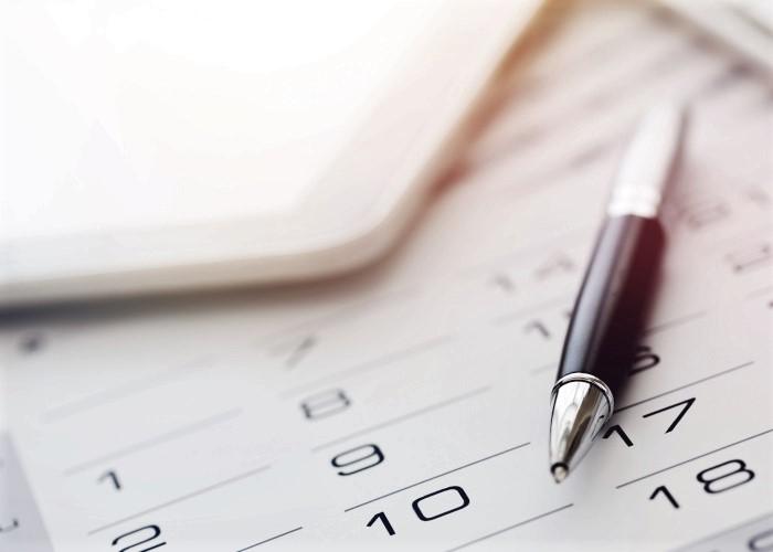 カレンダー、タブレット、ペン